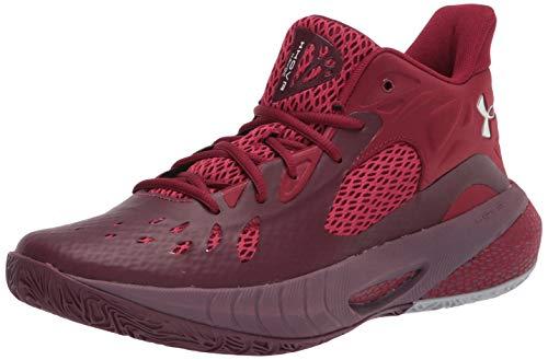 Under Armour Zapatillas de baloncesto HOVR Havoc 3 para hombre, rojo (Granate oscuro (502)/cardenal), 40.5 EU