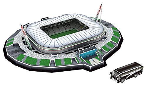 GHmarine Puzzle Tridimensionale 3D Famoso in Tutto Il Mondo Campo da Calcio 2020 Puzzle per Bambini Ragazzi Giocattolo con Inserto di Incantesimo Fai-da-Te (Stadio Juventus)