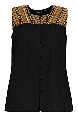 Ulla Popken Damen große Größen Shirttop schwarz 62/64 747507 10-62+