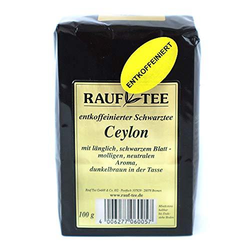 Rauf Tee - schwarzer Tee-Ceylon OP entkoffeiniert - 2 x 100g
