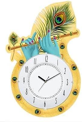 Aarvi creation Wooden Wall Clock(multicolour1) 35cm x 30cm
