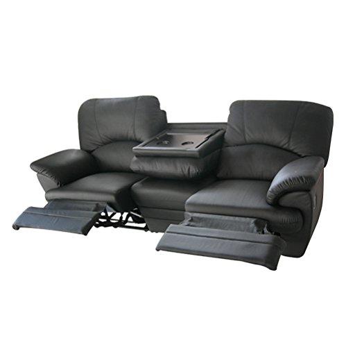 RR Design–Sofá de 3plazas relax, de las cuales 2 reclinables con motorización eléctrica