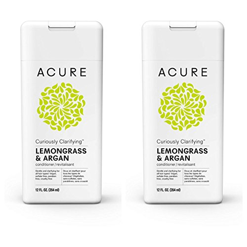 Acure Curiously Clarifying Lemongrass & Argen 12 Fluid Ounces (Conditioner 2 Pack)