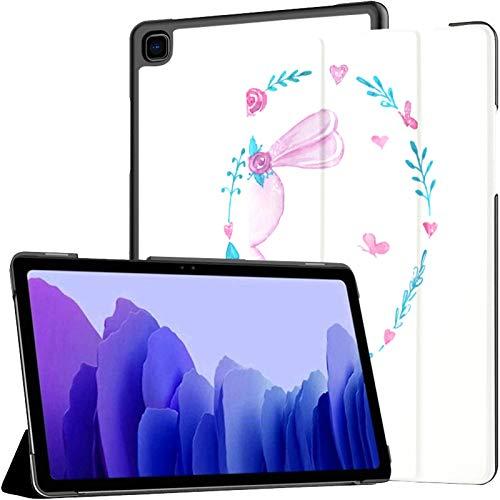 Funda para Tableta Samsung A7 Congratulatory Cute Set Hermosa Funda Rosa para Samsung Galaxy Tab A7 10.4 Pulgadas Funda Protectora de liberación 2020 Funda Samsung Galaxy A7 Funda para Tableta Funda