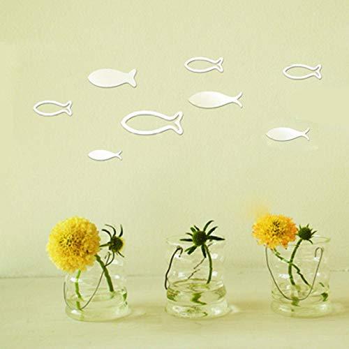 espejo flores ¡± pared decoración pared - Cuarto de baño Sala de estar Decoración Decoración 3D Etiquetas engomadas de la pared estéreo-Plata