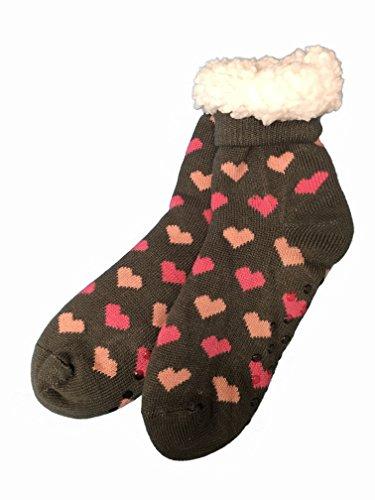 VON LAMEZAN Goldline Hüttensocken ABS - Socken Norway-Style Stoppersocken Kuschelsocken Wohlfühlsocken (39-42, Nr.20)