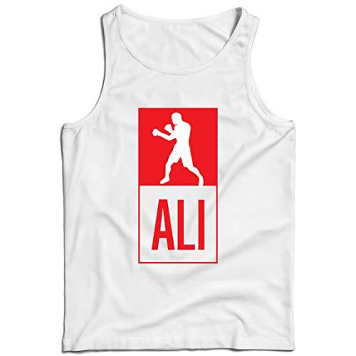 lepni.me Camisetas de Tirantes para Hombre Equipo de Entrenamiento Combate De Boxeo Ropa de Ejercicio y Fitness (XXXXX-Large Blanco Multicolor)