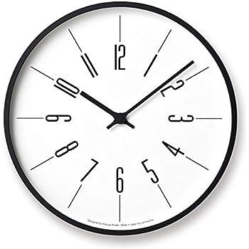 レムノス 掛け時計 電波 アナログ 木枠 時計台の時計 アラビック φ300 KK17-13A Lemnos