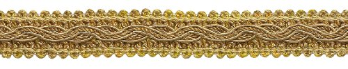 6.4 Meter Value Pack - Two Tone Gold Baroque Collection Gimp Braid 22mm Style# 0078BG Color: GOLD MEDLEY - 8633