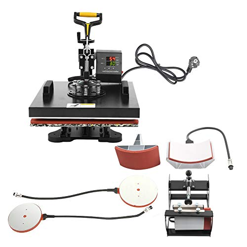 Wakects - Máquina de transferencia de calor digital multifunción (38 x 38 cm), con base separada para los componentes de taza.