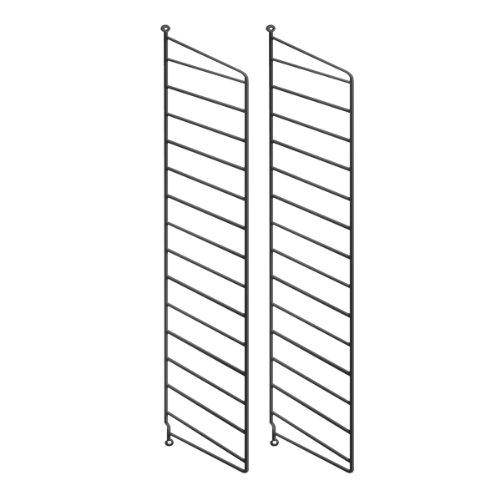 String System Wandleiter 75x30cm, schwarz Wandmontage 75x30cm 2er Set