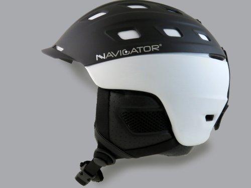 NAVIGATOR Parrot Ski-Helm und Snowboardhelm mit TÜV & CE-Zertifiziert, Dank innovativer Kombination aus ABS & Inmould Technologie hat Dieser Helm weniger Gewicht bei gleicher Sicherheit, Weiss, M-XL