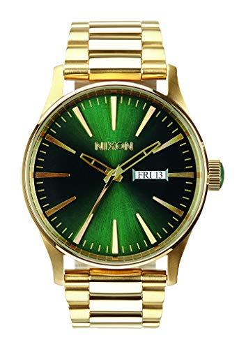 Nixon Armbanduhr Sentry Edelstahl Gold / Green Sunray