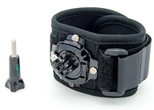 PROtastic Handgelenk- / Bein- / Fußhalterung mit 360-Grad-Drehung für GoPro Hero, Xiaomi Mi, SJCAM und andere Action-Kameras