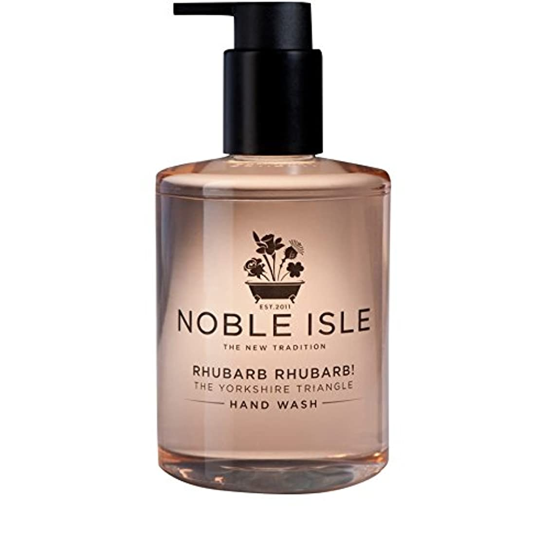 大邸宅マイクロ敬の念Noble Isle Rhubarb Rhubarb! The Yorkshire Triangle Hand Wash 250ml - 高貴な島ルバーブルバーブ!ヨークシャー三角形のハンドウォッシュ250ミリリットル [並行輸入品]