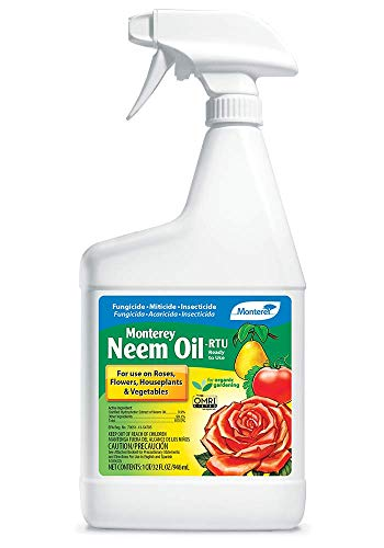 Monterey LG 6148 Neem Oil Ready-To-Use Insecticide, Miticide, & Fungicide, 32 oz
