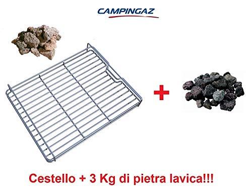 ALTIGASI CESTELLO Roccia Pietra LAVICA per Barbecue 3 & 4 Series CAMPINGAZ + 3 kg Roccia