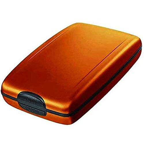 Hongshengchang Secure Deposits and Payouts Wallet Wallet Aluminum Wallet Credit Card Holder,Security Wallet Credit Card Hard Case for Men or Women (Dorado)