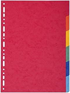 Intercalaires carton 6 ou 12 touches pour classeurs A4 Intercalaires carton 6 touches