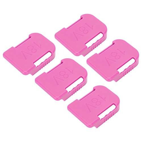 FOLOSAFENAR Soporte de batería Resistente y Ligero de 5 Piezas, Color Rosa, para Panel de Taller o camión, para batería de Herramientas Makita/Bosch