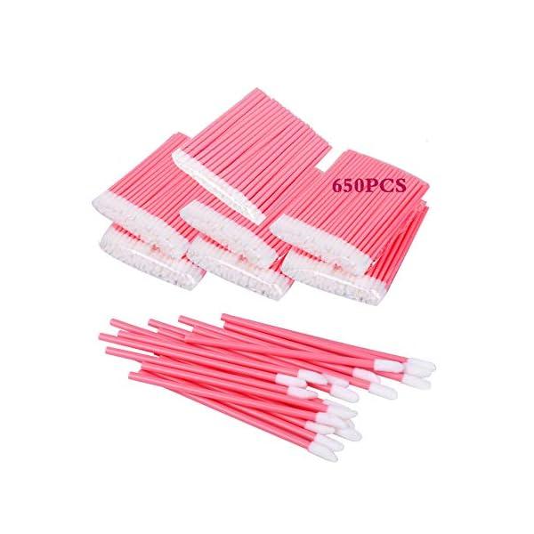 650PCS Disposable Lip Brushes Lip Gloss Applicators Make Up Brush Lipstick Lip Gloss Wands Makeup Applicators Brushes Applicator Tool Makeup Beauty Tool Kits Disposable Lip Brushes Tool Kits Pink
