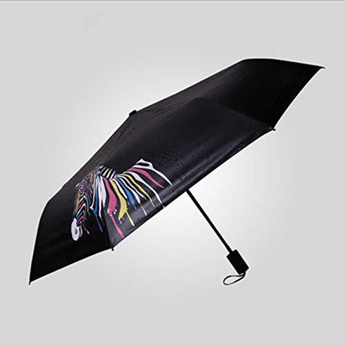 WYJ Regenschirm Kreative Farbwechsel Regenschirm Tragbare Regen FrauenWinddicht Sonnenschirm Zebra Sonnenschirm Regen Schatten