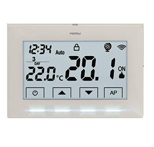 termostato wifi usb PERRY 1TX CR029WIFI CRONOTERMOSTATO DA PARETE WIFI 1TXCR029WIFI BIANCO