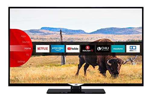 JVC LT-49V55LFA 124 cm / 49 Zoll Fernseher (Smart TV inkl. Prime Video / Netflix / YouTube, Full HD, Bluetooth, Triple-Tuner)