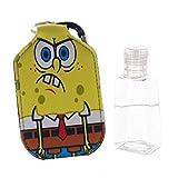 SpongeBob Keychain with Hand Sanitizer Bottle Holder