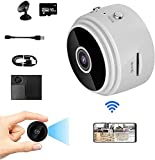 Gsdxz TrailerHitch Monitoring Device,Wireless Magnetic Trailer Hitch Rear View Camera,A9 Mini WiFi HD 1080p Wireless IP Camera,with 16G SD,Wide Angle 150 Degrees,with Bracket (White with 16G SD)