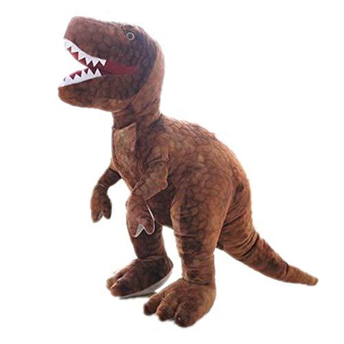 Vinteen Stofftier Tyrannosaurus Rex Puppe Kind-Puppe Junge Kissen Geburtstags-Geschenk-Hold-Go to Bed Ragdoll Puppe (Color : Braun, Größe : 80cm)