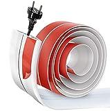 Canaleta de cables autoadhesiva para el suelo, flexible, fácil de cortar para el hogar, la oficina, la escuela, el almacén
