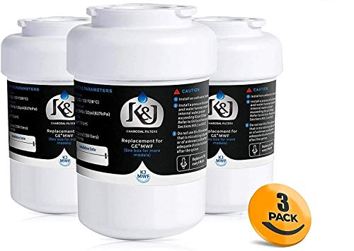 K&J Replacement GE MWF Compatible Water Filter - For GE Smartwater Water Filter MWF, NSF 42 certified (3 Pack)