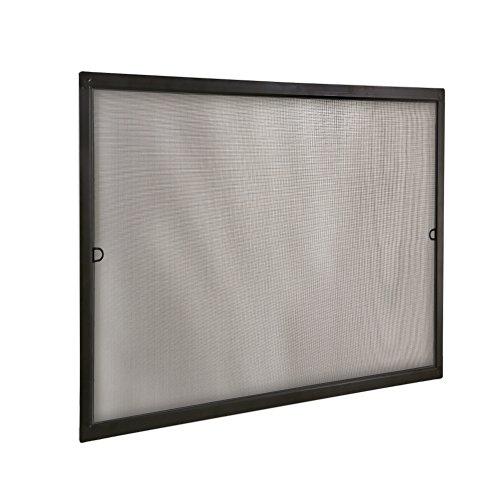 jarolift Fliegengitter für Fenster SlimLine Insektenschutz ohne Bohren, mit Alurahmen Spannrahmen, Mückenschutz Mückengitter, 80 x 150 cm, Anthrazit