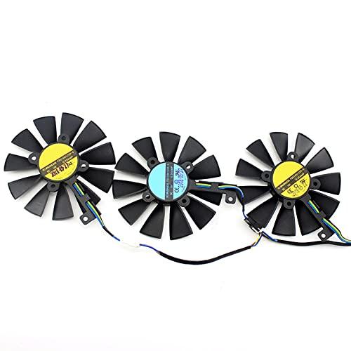 87mm FDC10U12S9-C FDC10H12S9-C para ASUS GTX 980 TI R9 390X 390 GTX 1060 1070 1080 TI RX 480 RX480 Tarjeta de gráficos Ventilador de refrigeración (Blade Color : 3PCS)