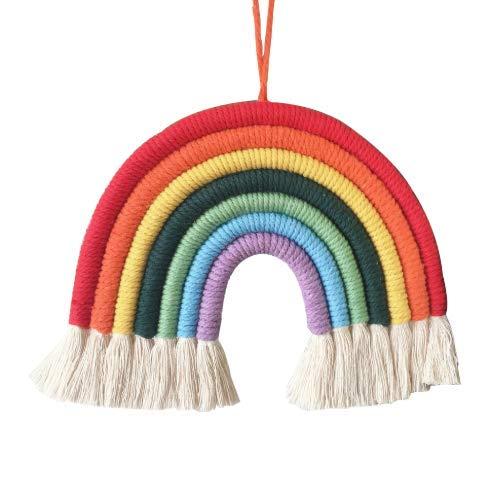 GOODCHANCEUK Regenbogen-Makramee-Wanddekoration, Boho-Stil, für Kinderzimmer, Kinderzimmer