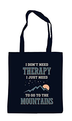 Certified Freak I Don`t Need Therapy - Just Need Mountains Bag Black