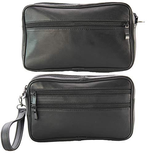 Herren Handgelenktasche Bag Tasche Echt Leder Geld Handtasche Umhängetasche