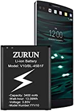 LG V10 Battery ZURUN 3400mAh Li-ion Battery Replacement for LG V10 BL-45B1F H900 AT&T, VS990 Verizon, H901T-Mobile, H960A, H961N, RS987 | LG Stylo 2 Spare Battery [2 Year Warranty]
