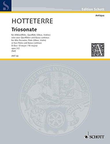 Trio Sonata d Major Op. 3/2 -Ensemble de Partitions