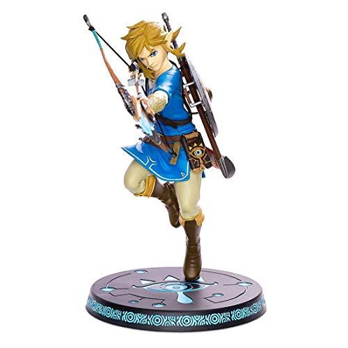 Nintendo Zelda Statue Link Figur Breath of The Wild mit Base Diorama 23cm PVC
