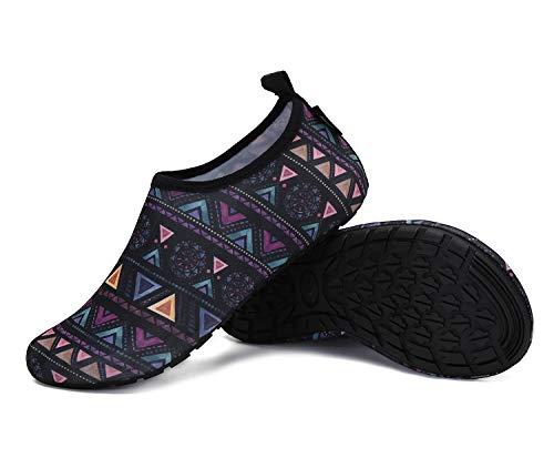 SAGUARO Hausschuhe Damen Herren Leichte Pantoffeln rutschfest Slip on Flache Hause Slippers,Mehrfarbig,38/39 EU