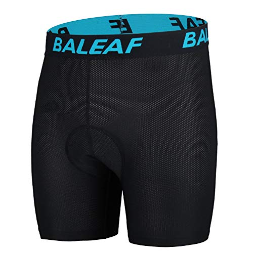 BALEAF Men's 3D Padded Cycling Mesh Breathable Underwear Shorts Tights Blue Size L