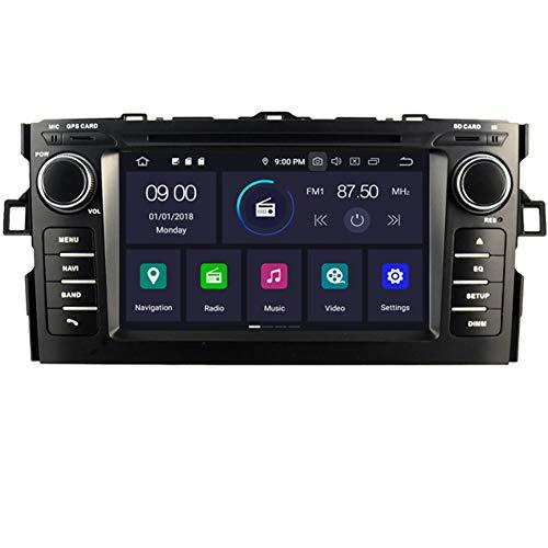 Autosion Android 10 Car radio 4+64 Go DVD de voiture stéréo GPS Radio de navigation Wifi pour Toyota Auris 2006 2007 2008 2009 2010 2011 2012 Bluetooth Steeirng Wheel Control