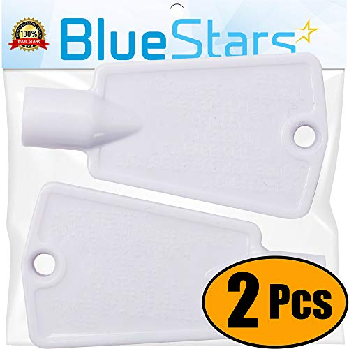Ultra Durable 297147700 Freezer Door Key Replacement part by Blue Stars - Exact Fit for Frigidaire Kenmore Electrolux Freezers - Replaces AP4301346 PS1991481 - PACK OF 2