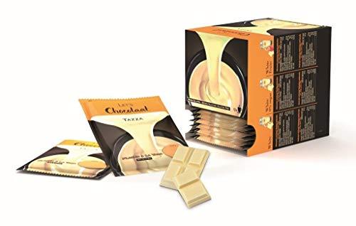 Lets Chocolaat , Chocolate a la taza, estuche 12 sobres Monodosis, sabor Blanco