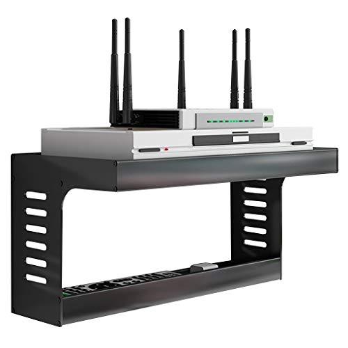 Caja De Rack De Enrutador Soporte De Enrutador WiFi De Montaje En Pared Soporte De Estante para Accesorios De TV Enrutador WiFi Decodificador De TV Decodificador