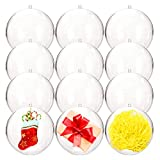 Haawooky Clear Plastic Fillable Ball Ornaments,100mm...