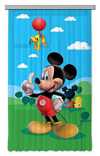 AG Design Disney Mickey Mouse Kinderzimmer Gardine/Vorhang, 1 Teil, Stoff, Mehrfarbig, 140 x 245 cm