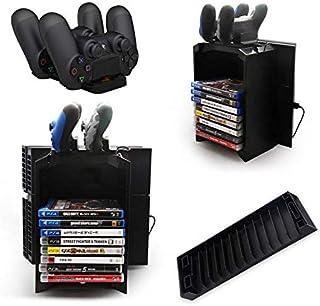 قاعدة شحن وتخزين متعددة الوظائف لذراع تحكم جهاز PS4 - 2724330974326